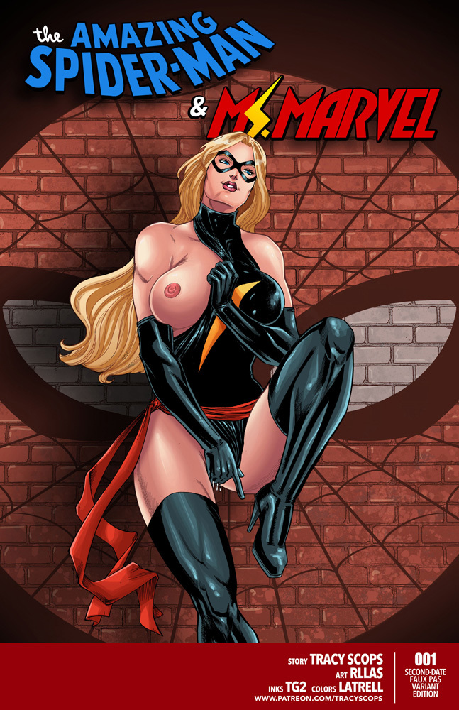 Ms. Marvel shows her perfect boobs