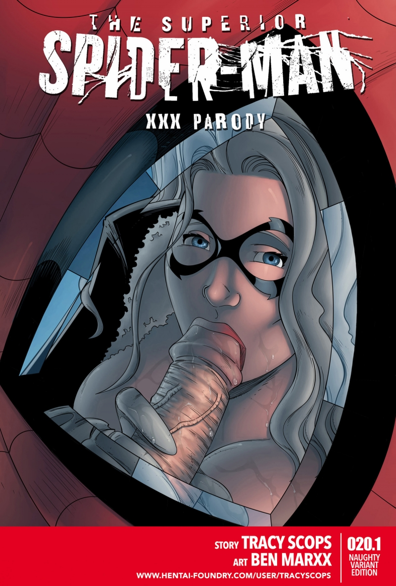 Superior Spider-Man XXX parody: Sometimes sex between Black Cat and Spidey ends up rough