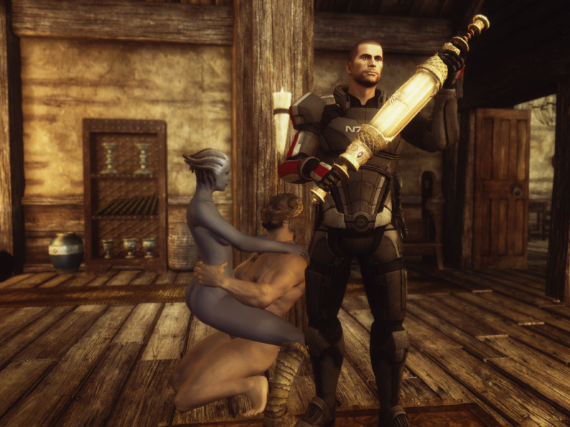 Liara T'soni 1439078 - Asari Commander_Shepard Dragonborn Liara_T'Soni Mass_Effect Mass_Effect_3 Skyrim The_Elder_Scrolls crossover.png