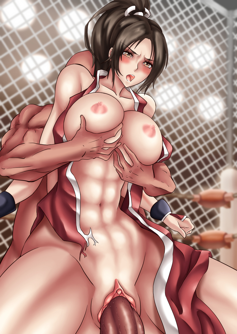 Busty Mai Shiranui ride on fat cock