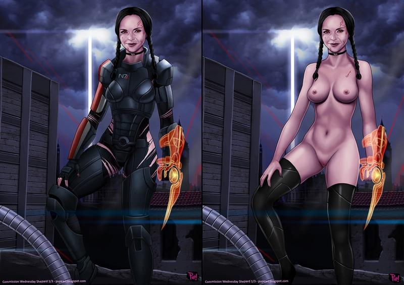 1216148 - Addams_Family Commander_Shepard FemShep Mass_Effect Wednesday_Addams cosplay pupete.jpg