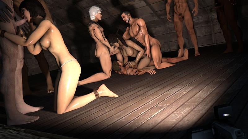 1484341 - Chris_Redfield Commander_Shepard Lara_Croft Legato4 Mass_Effect Resident_Evil Samantha_Nishimura Tomb_Raider Tomb_Raider_Reboot crossover tagme.jpg