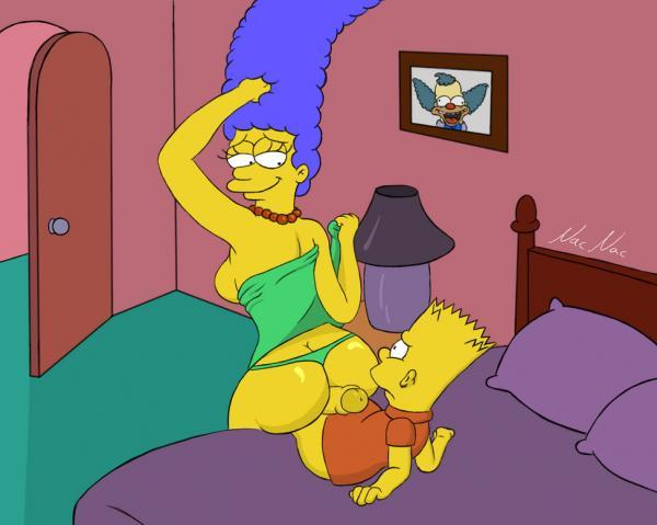 Bart Simpson drilled wondrous Marge Simpson