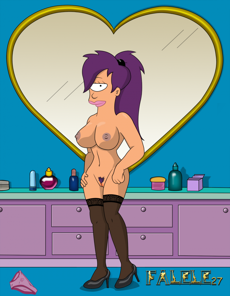 Leela Naked Futurama