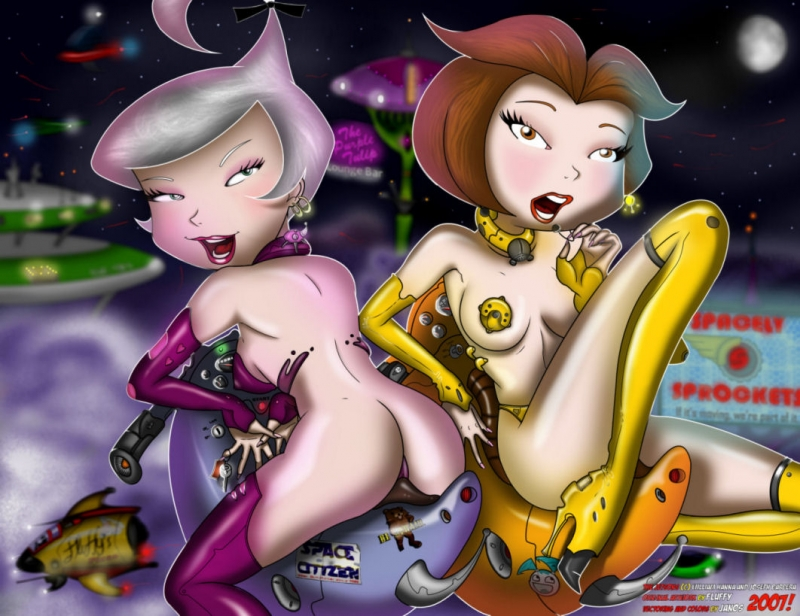 Jane and Judy Jetson - tramps in the future will be torrid as hell!
