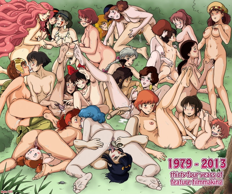 1364774 - Castle_of_Cagliostro Chihiro_Ogino Fio_Piccolo Fujiko_Mine Ghibli Granmamare Howl's_Moving_Castle Kaya Kiki Kikis_Delivery_Service Kushana Lad