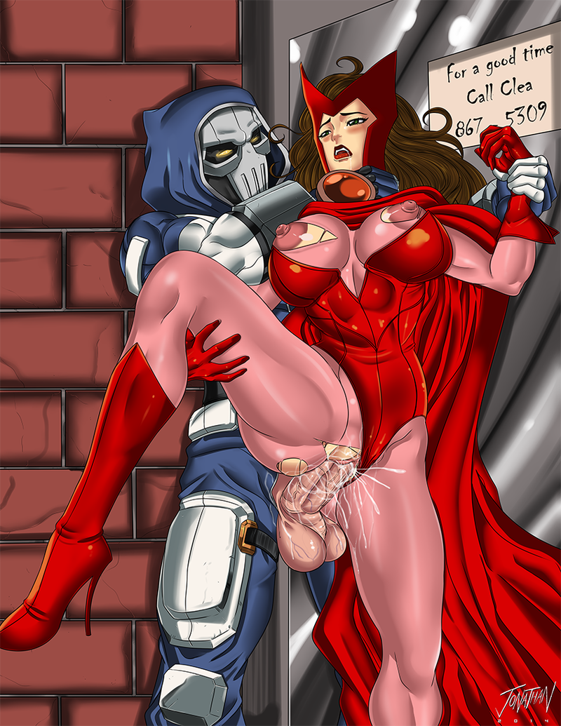 Scarlet Witch likes this rod so much that even her puffies have torn her costume!