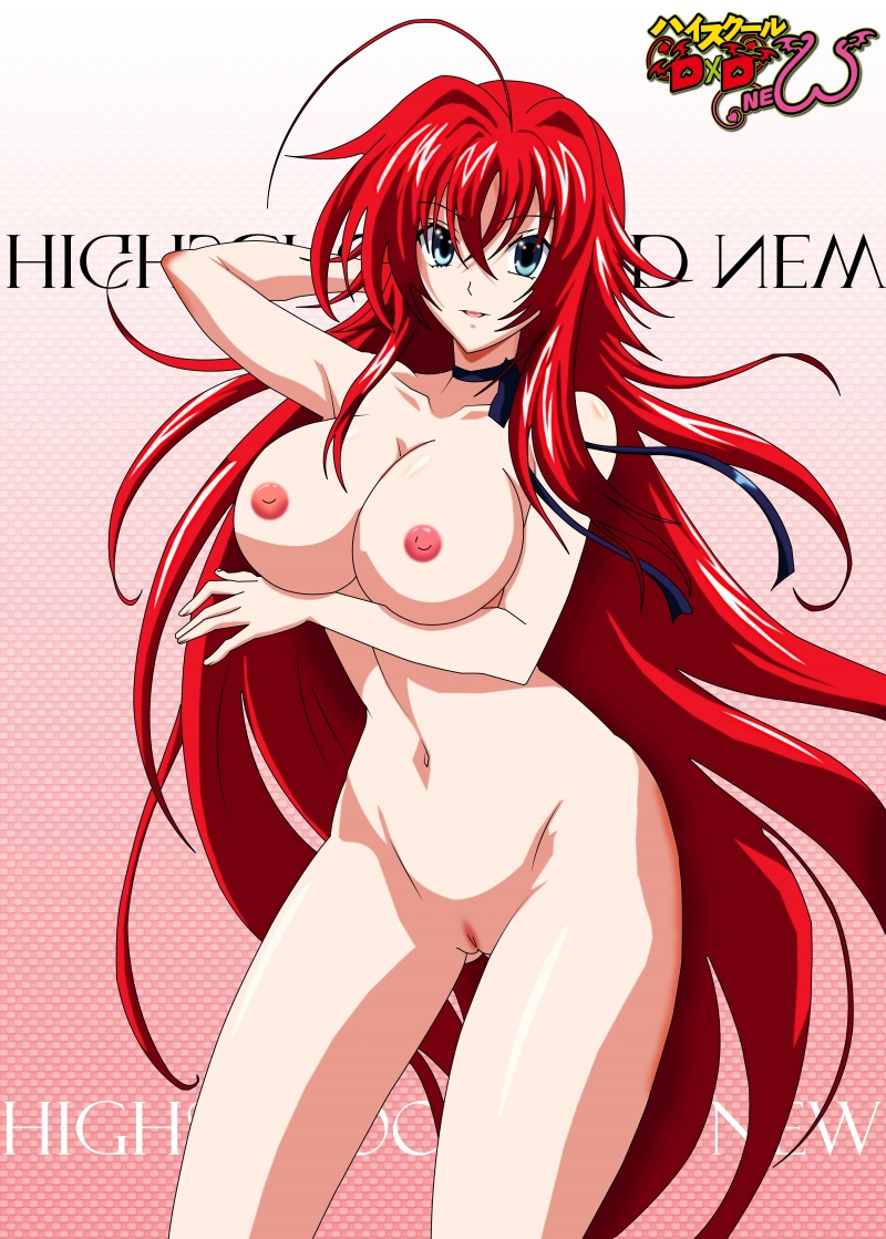 Rias Gremory exposes her fertile body with sexy melons