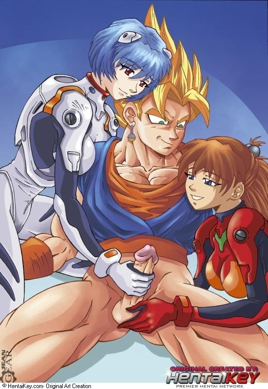 62252 - Asuka_Langley_Sohryu Dragon_Ball_Z Neon_Genesis_Evangelion Rei_Ayanami crossover hentaikey vegito.jpg