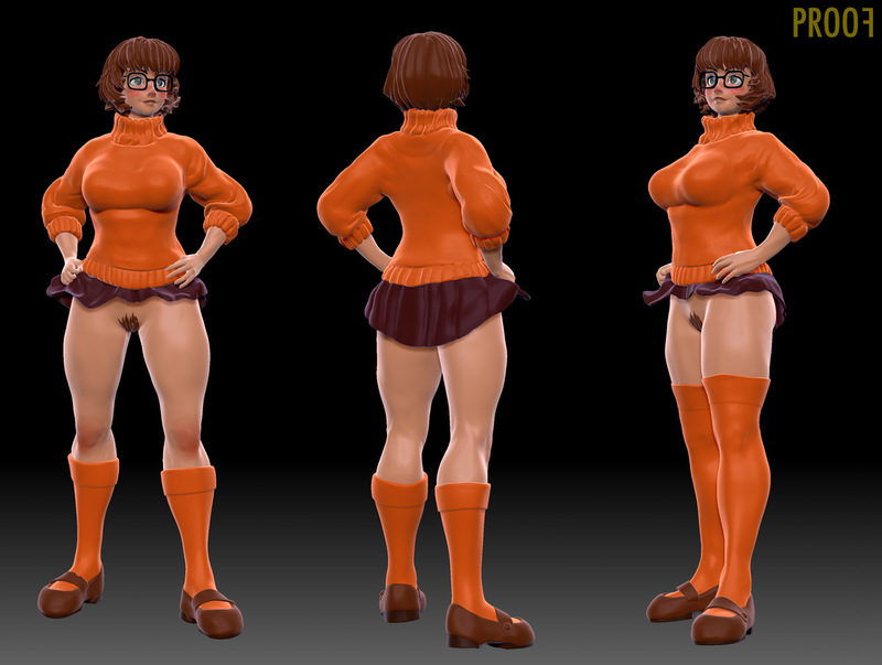 Velma Dinkley looks incredible in this extra short mini-skirt!