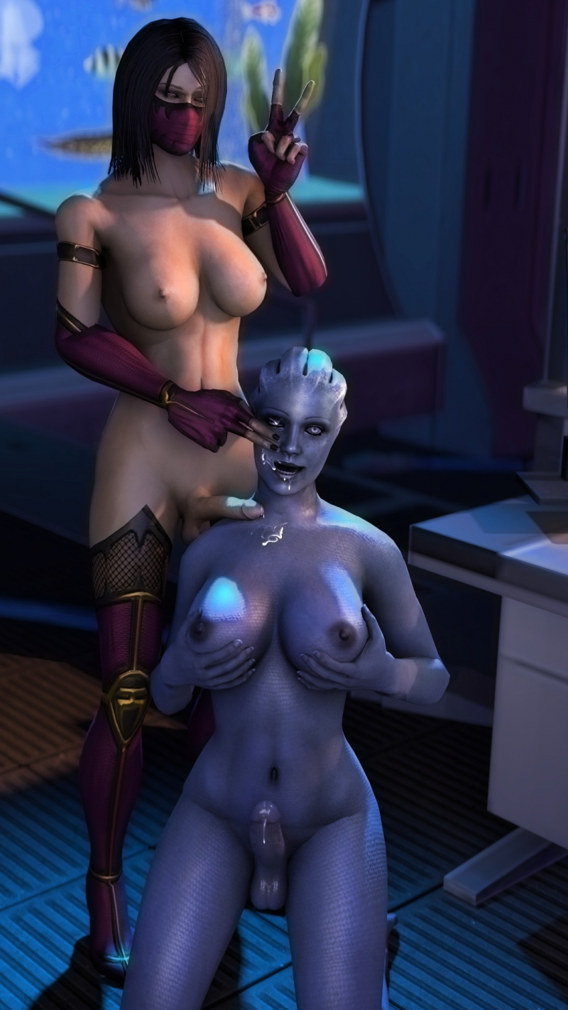Mileena has new futafriend from space!
