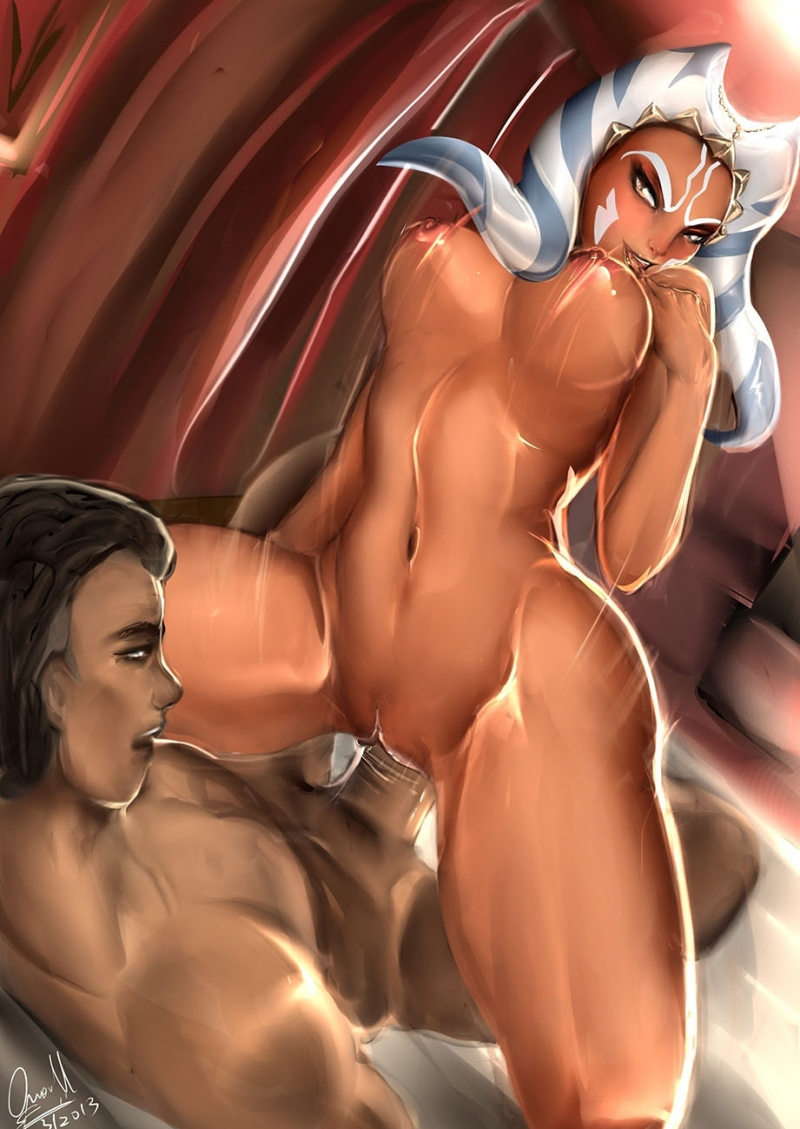 If riding dick like super-naughty is one of female jedi skills then Ahsoka Tano has perfected it!