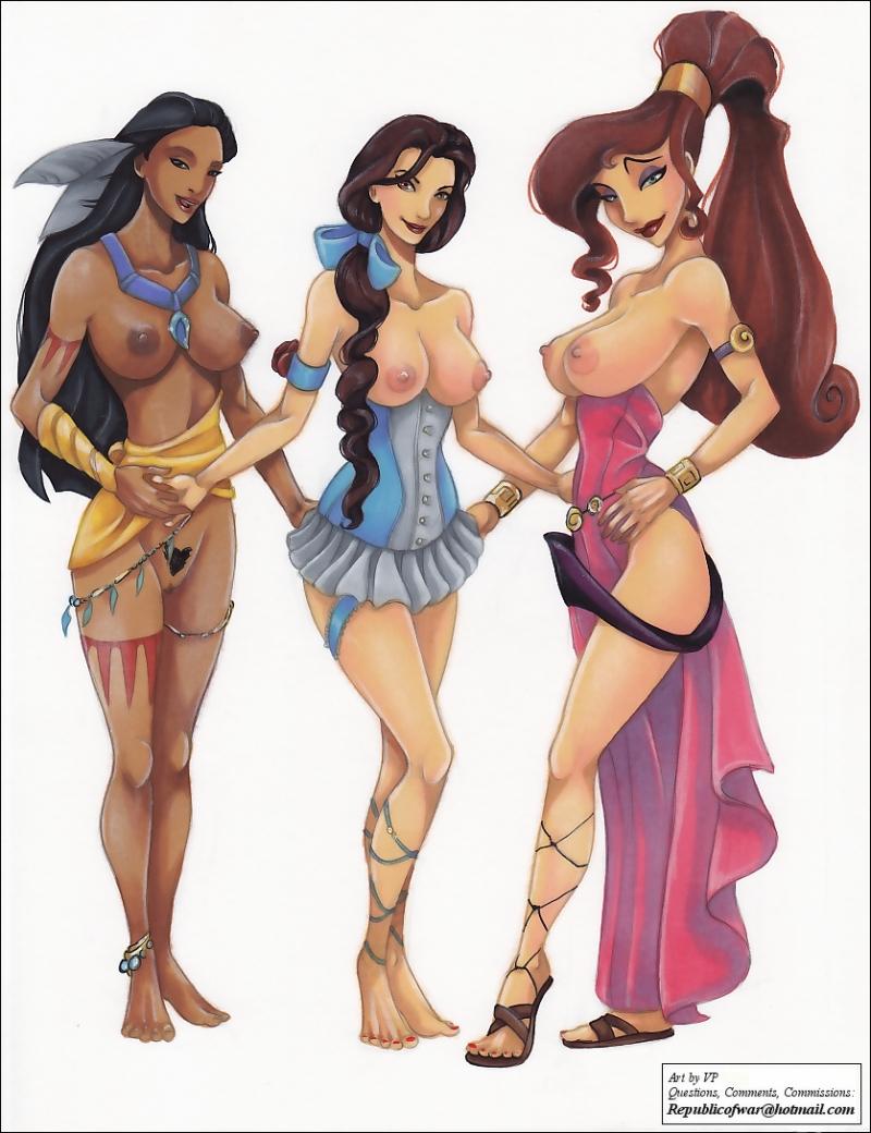 1476646 - Beauty_and_the_Beast Belle Hercules Megara Pocahontas Pocahontas_(character) VP crossover.jpg