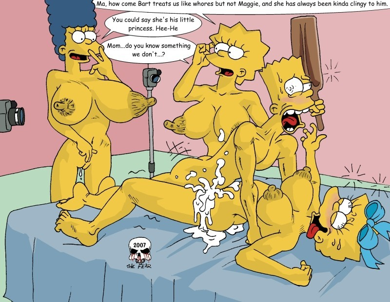 Bart Simpson like gonzo family fuck-a-thon