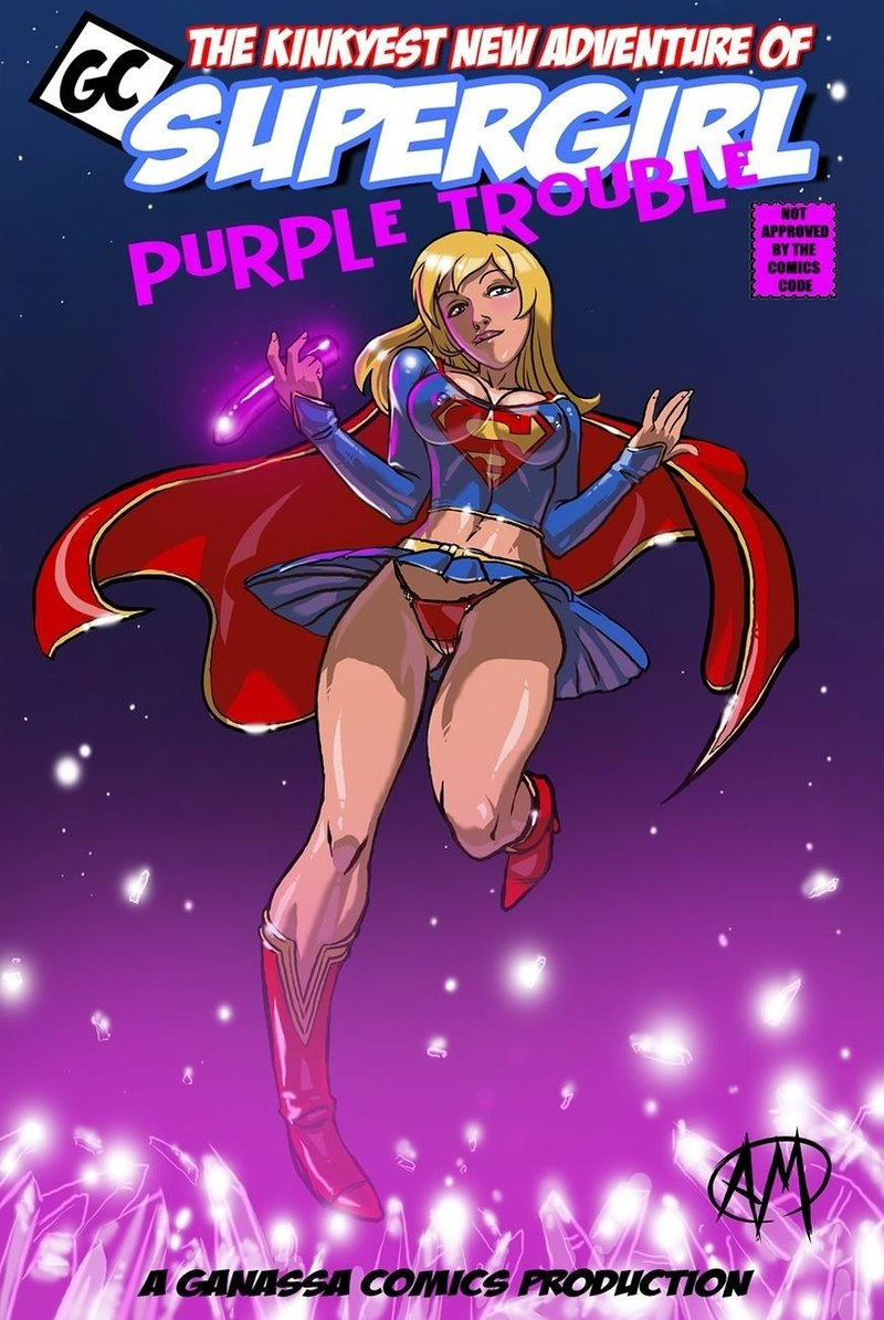 Supergirl Purple Grief: Supergirl and Powergirl squad up... for girl-on-girl threeway?