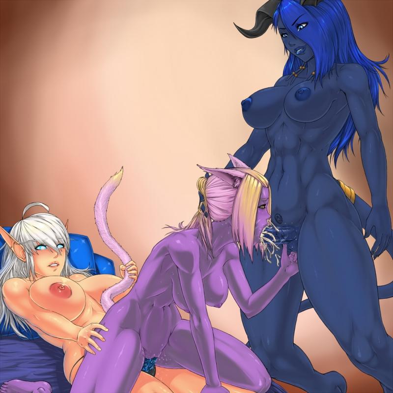 Draenei 1376406 - Elf Final_Fantasy_XIV Miqo'te World_of_Warcraft draenei.jpg