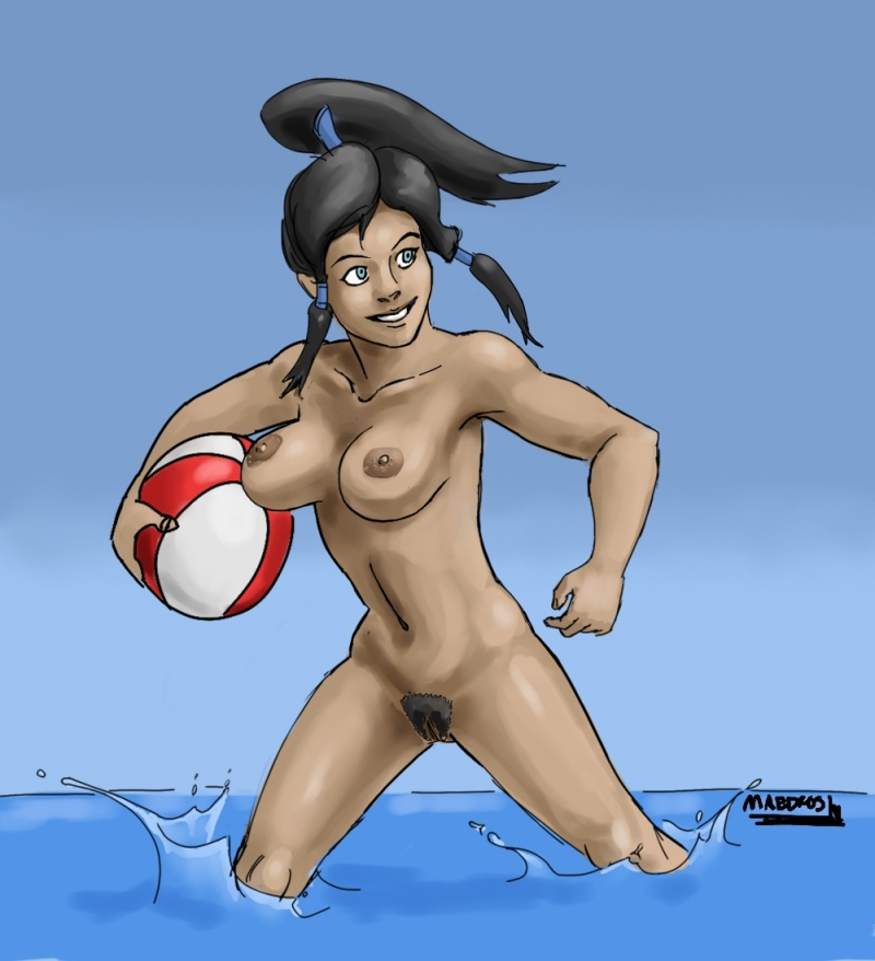 Korra always said that water fitness is much more joy if you are playing naked!