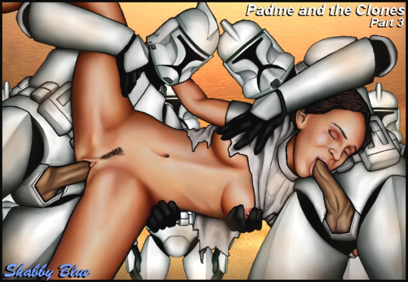 Padme gets used by Two ultra-kinky clones... and looks like she doesn't mind at all!