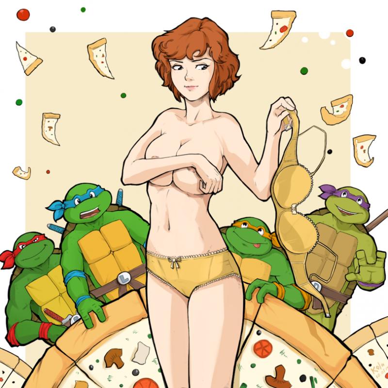 1426966 - April_O'Neil Donatello Leonardo Michelangelo Raphael Teenage_Mutant_Ninja_Turtles.png
