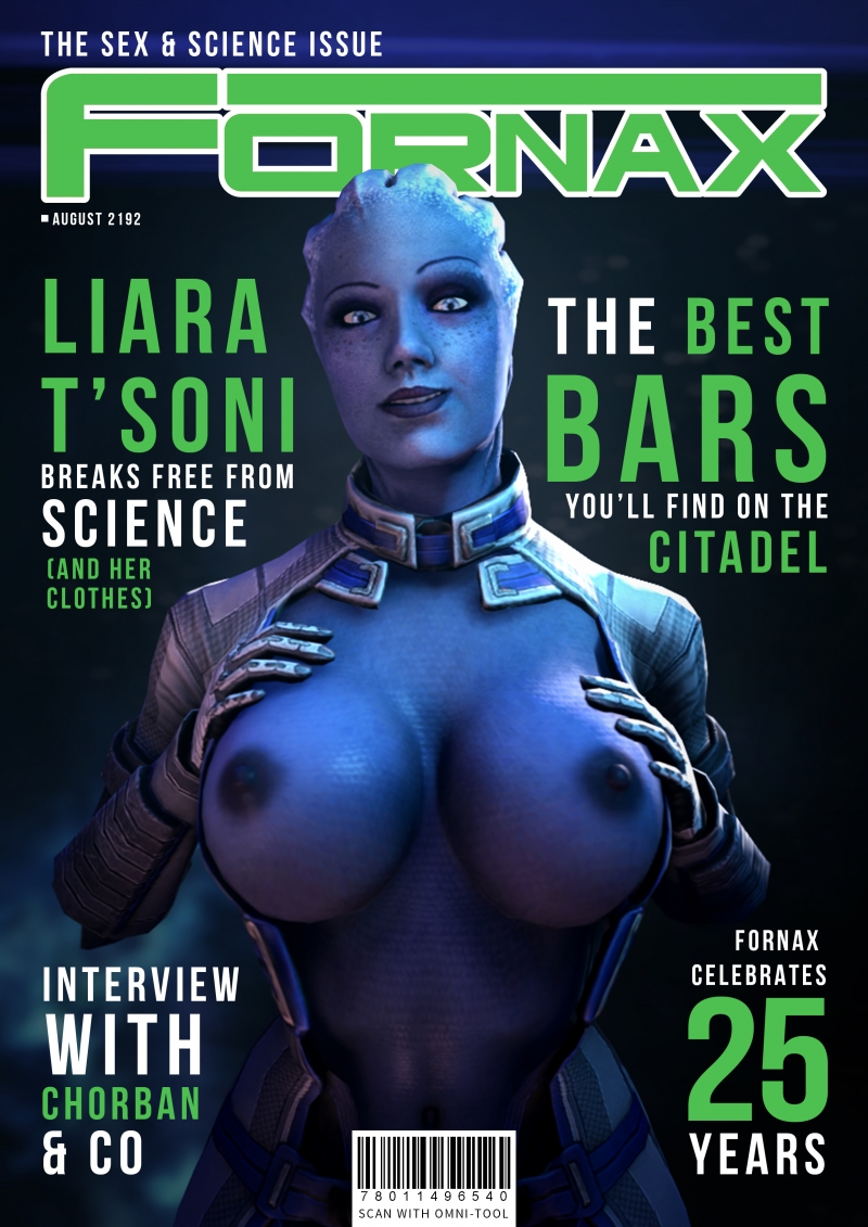 Liara T'soni showcases her pretty immense boobs