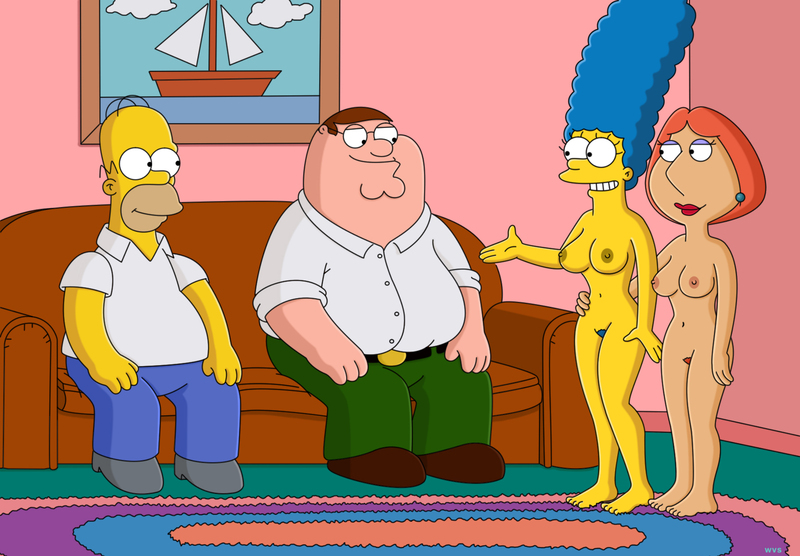 1532328 - Family_Guy Homer_Simpson Lois_Griffin Marge_Simpson Peter_Griffin The_Simpsons WVS.jpg