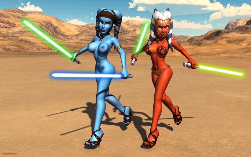 Aayla Secura Ahsoka tano 1100625 - Aayla_Secura Ahsoka_Tano Clone_Wars Star_Wars Twi'lek kondaspeter togruta.jpg