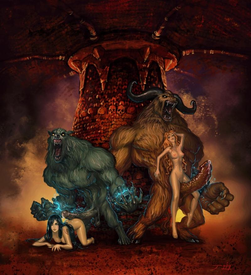 440009 - Castlevania Joixxx Maria_Renard Minotaur Order_of_Ecclesia Shanoa Symphony_of_the_Night werewolf.jpg