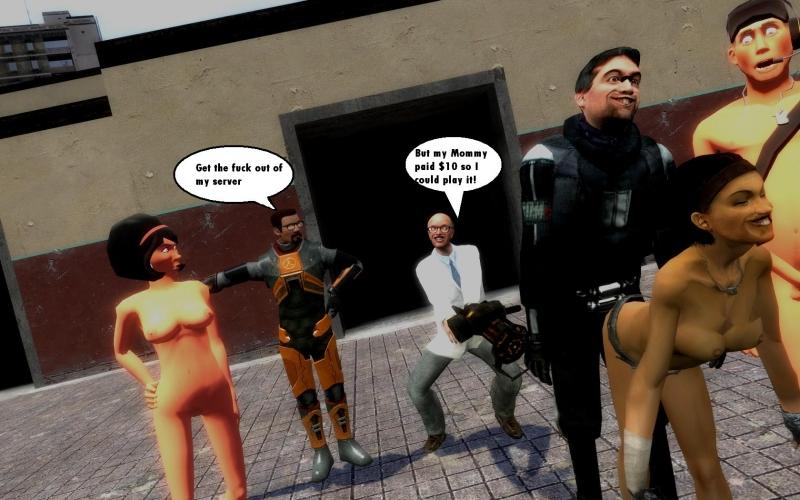 813999 - Alyx_Vance Barney_Calhoun Gordon_Freeman Half-Life Half-Life_2 Isaac_Kleiner Scout Scout's_Mother Team_Fortress_2 crossover gmod.jpg