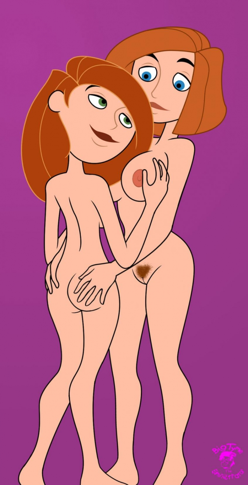 Ann Possible and Kim Possible are going to spend some time together... and they already has taken off all of their clothes!