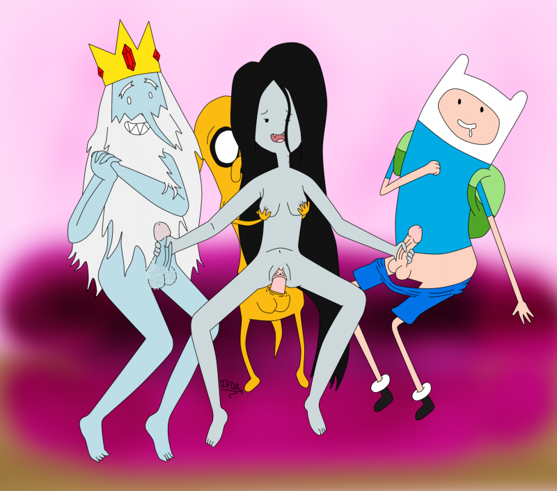 Marceline Finn Jake 1235164 - Adventure_Time Finn_the_Human Ice_King Iedasb Jake_the_Dog Marceline Simon_Petrikov.png