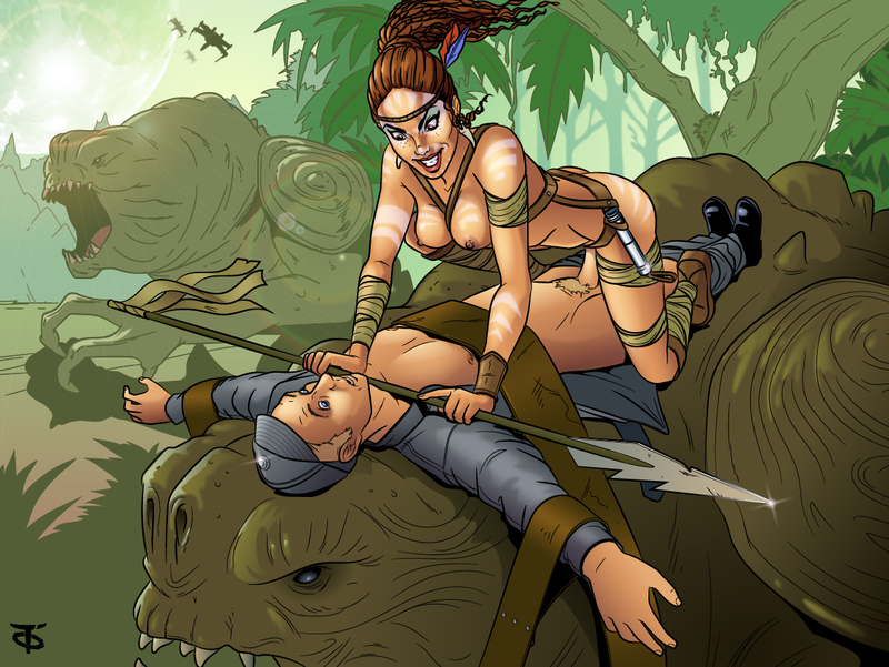 Hunt and poke? Jedi femmes can do both things at the same time!