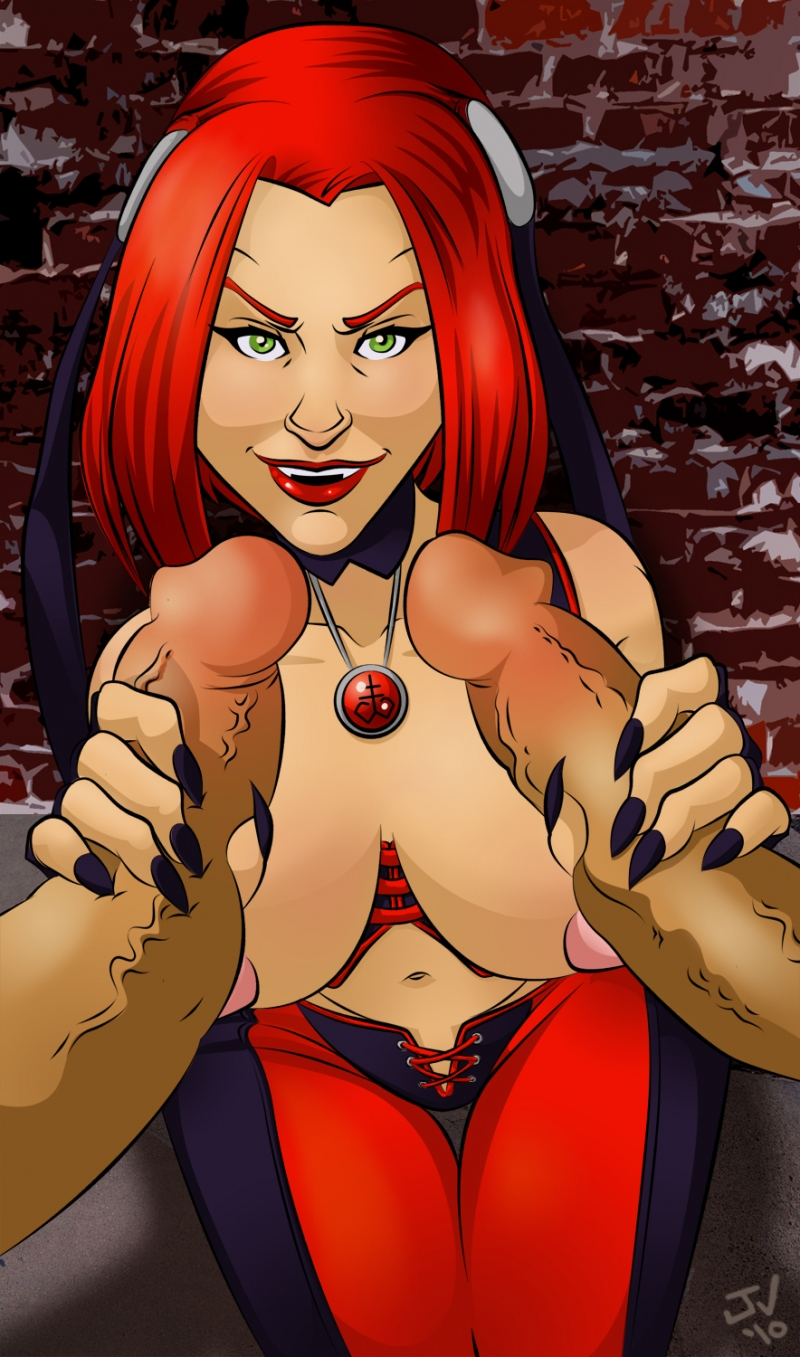 Two cocks at once?  Bloodrayne is ready to suck even more!