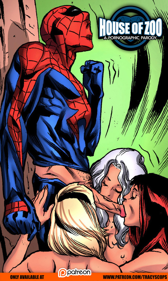 Spider-man has so many chicks willing to suck his cock!
