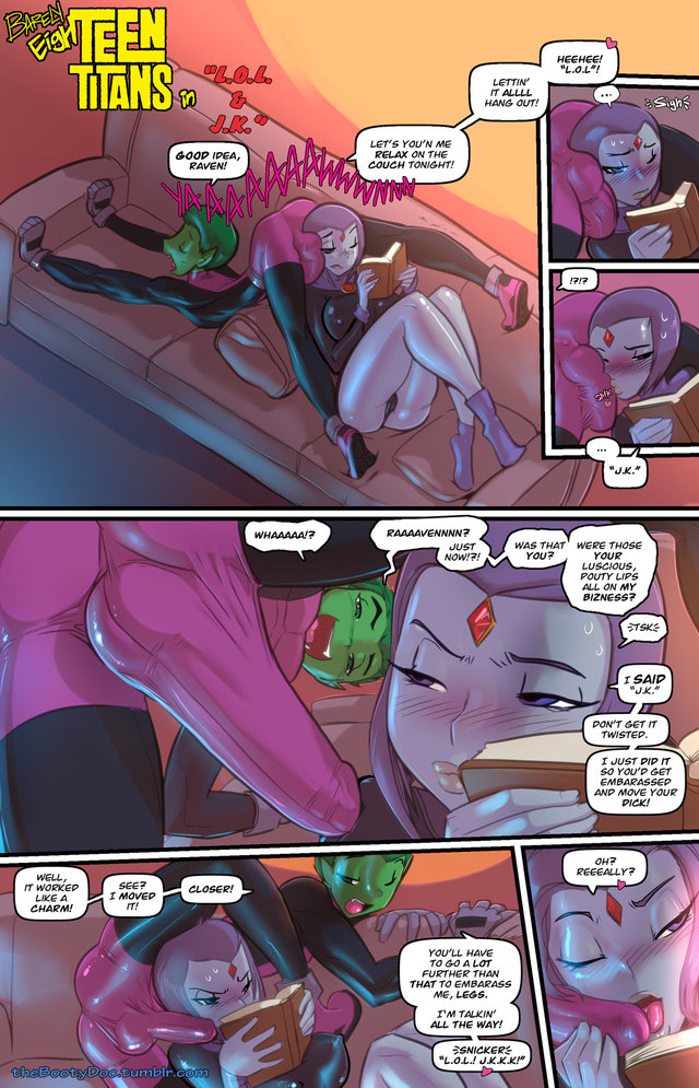 [Fred Perry] Barely EighTeen Titans: Beastboy gets a boner... and Raven helps him with it1