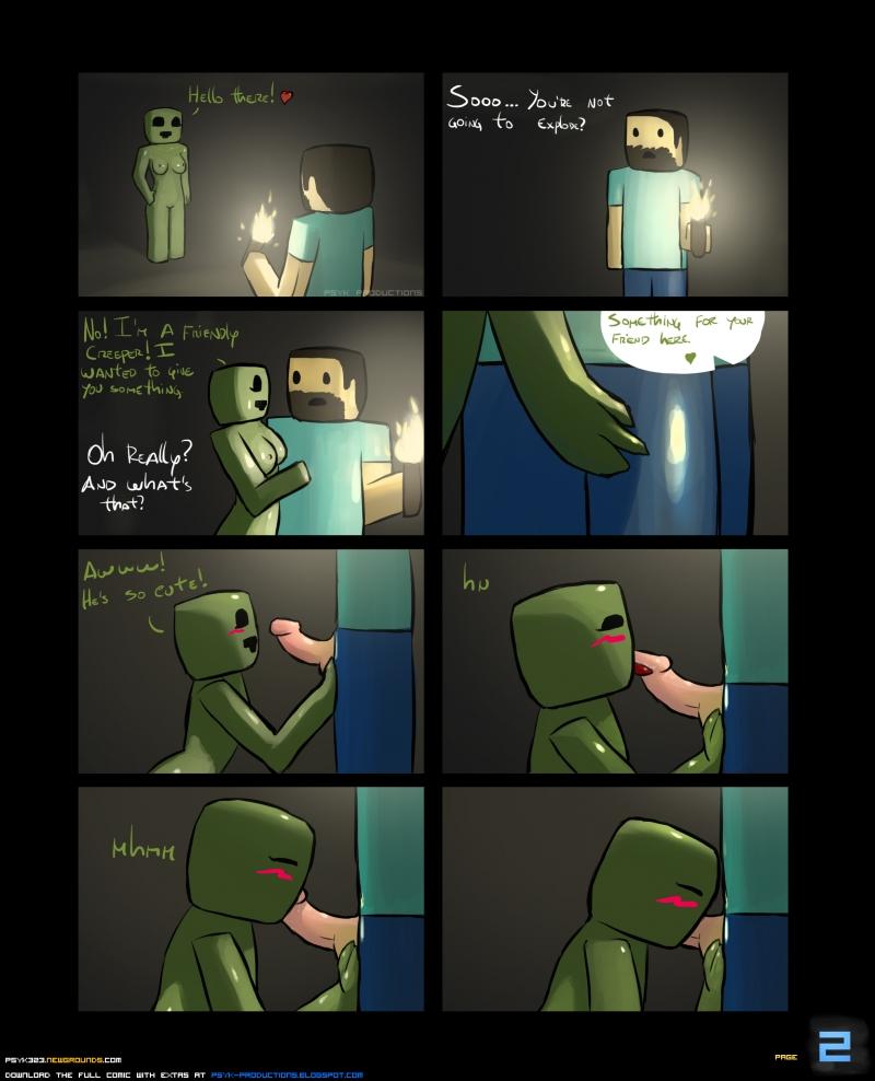 Creeper Enderman Steve 885991 - Creeper Minecraft Steve comic psyk323.jpg