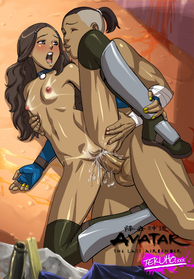 Katara gets her taut and bald vagina creampied by non other than Sokka!
