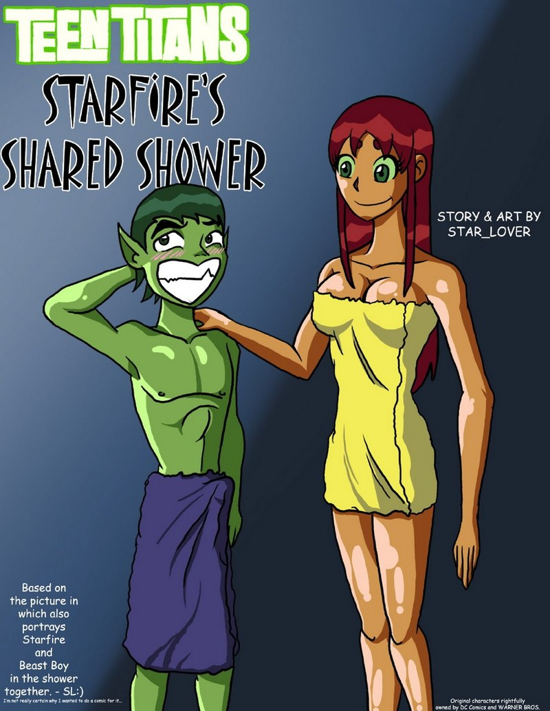 TT Porn Comic: Starfire's Collective Shower