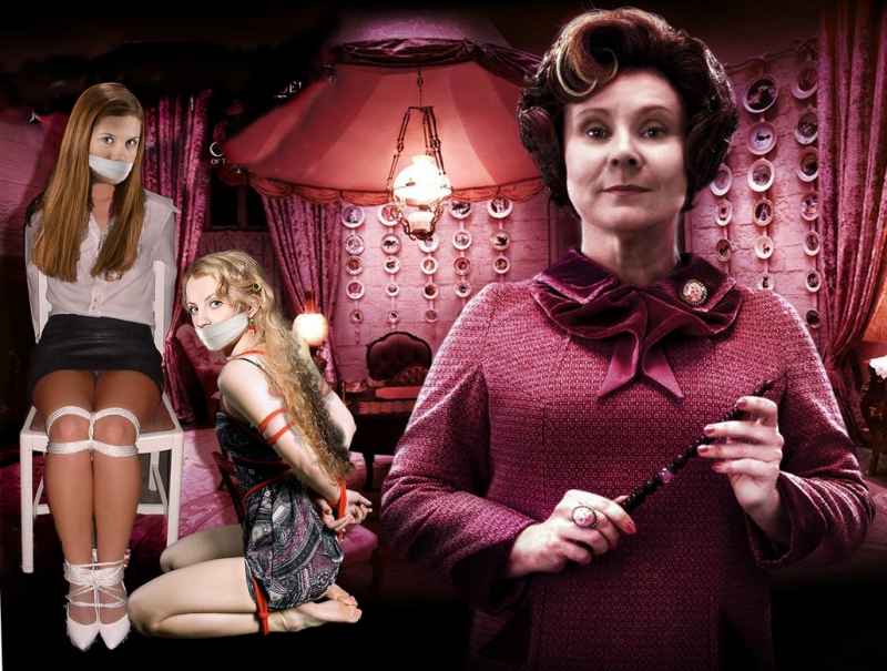 Dolores Jane Umbridge 918217 - Bonnie_Wright Dolores_Umbridge Evanna_Lynch Ginny_Weasley Harry_Potter Imelda_Staunton Luna_Lovegood fakes.jpg