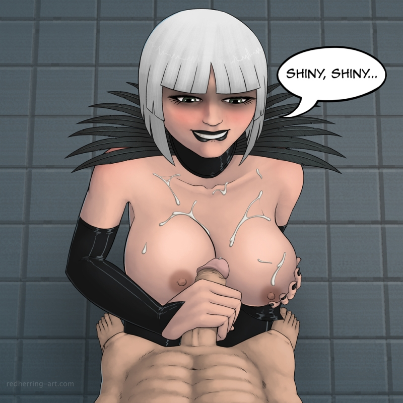 And another one bad doll with ample breasts enjoys being predominated by Batman's dude dude rod!