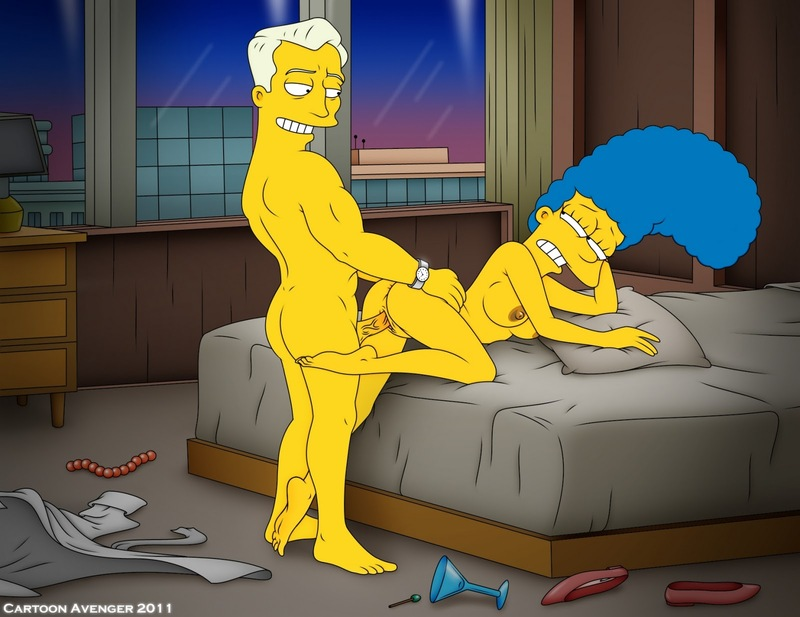 Buxom Marge Simpson love fine porking