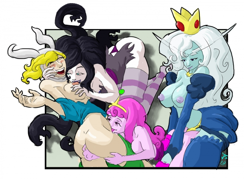 Lady Rainicorn 684510 - Adventure_Time Fionna_The_Human_Girl Ice_Queen Marceline Princess_Bubblegum imric1251.jpg