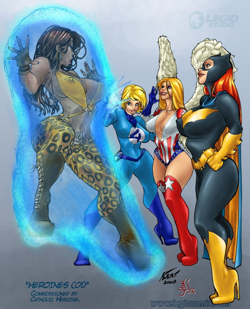 839775 - Barbara_Gordon Batgirl Batman DC Fantastic_Four Legio Marvel Sue_Storm crossover.jpg