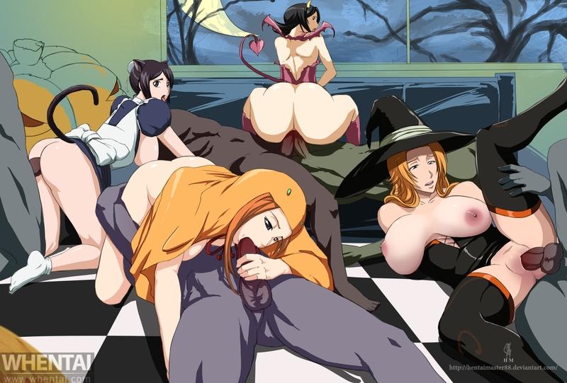 1726192 - Bleach Halloween Momo_Hinamori Orihime_Inoue Rangiku_Matsumoto Rukia_Kuchiki hentaimaster88.jpg