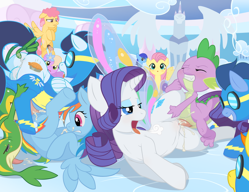 Princess Celestia Fluttershy Twilight Sparkle Rarity Princess Luna 766108 - BAGINAZARD Fluttershy Friendship_is_Magic My_Little_Pony Porkyman Rainbow_Dash Rarity Snivy Soarin Spike Spitfire crossover.png