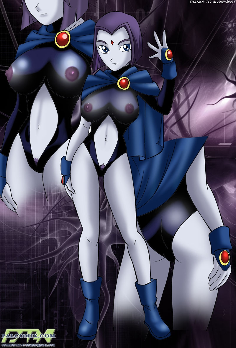 Teentitans Porno Comics - Raven double drilled