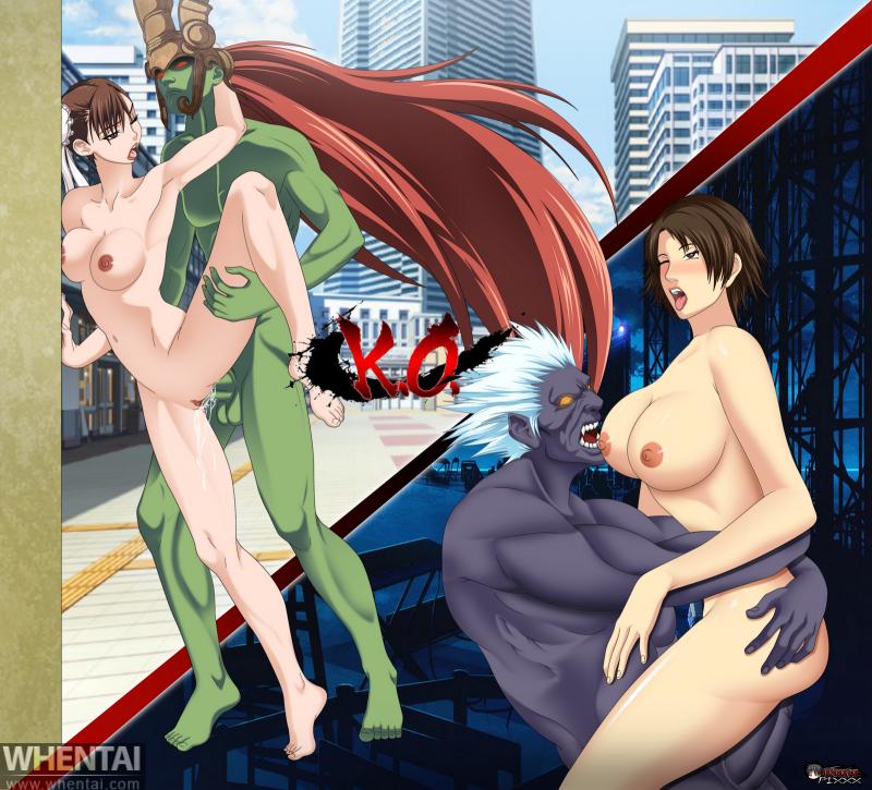 Asuka Kazama 1238978 - Akuma Asuka_Kazama Chun-Li Street_Fighter Tekken benhxgx crossover ogre.png