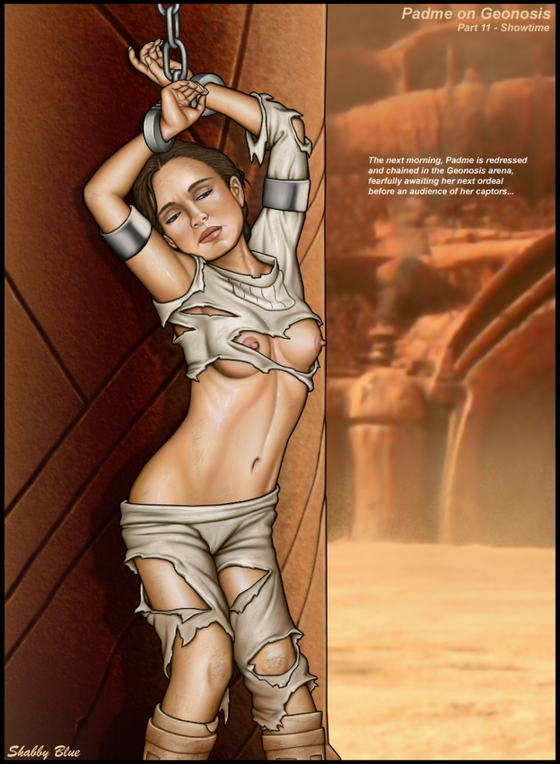 Padme in chains with her suit bruised looks truly steaming!
