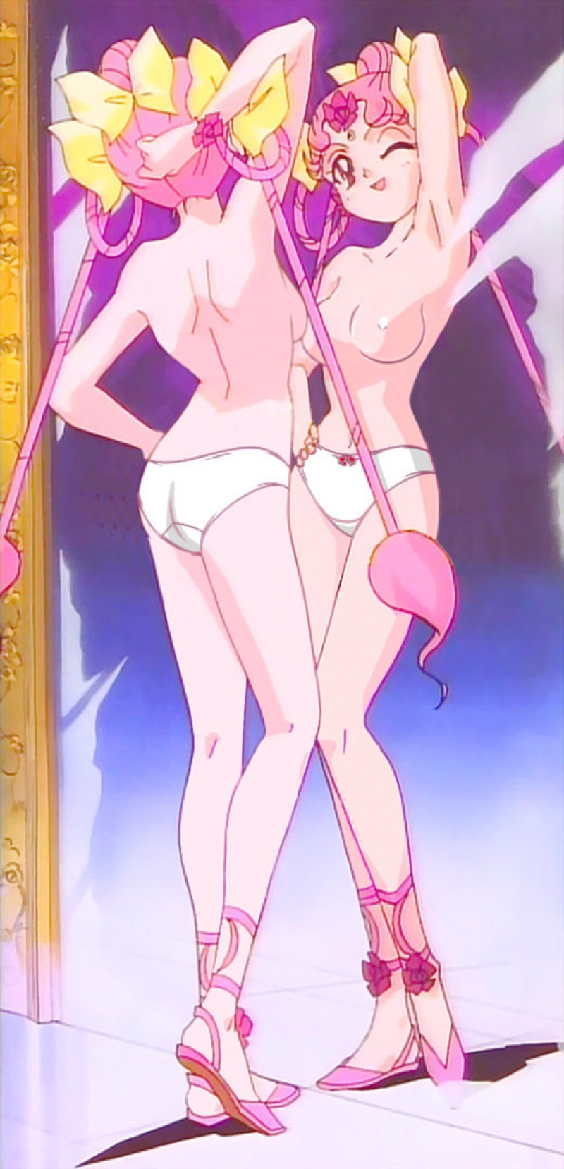 Chibiusa likes to see on her developed mind-blowing bod in the mirror