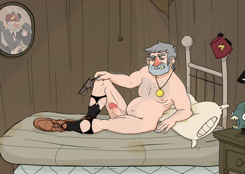 Warning! Another one pic of naked Gruncle Stan!