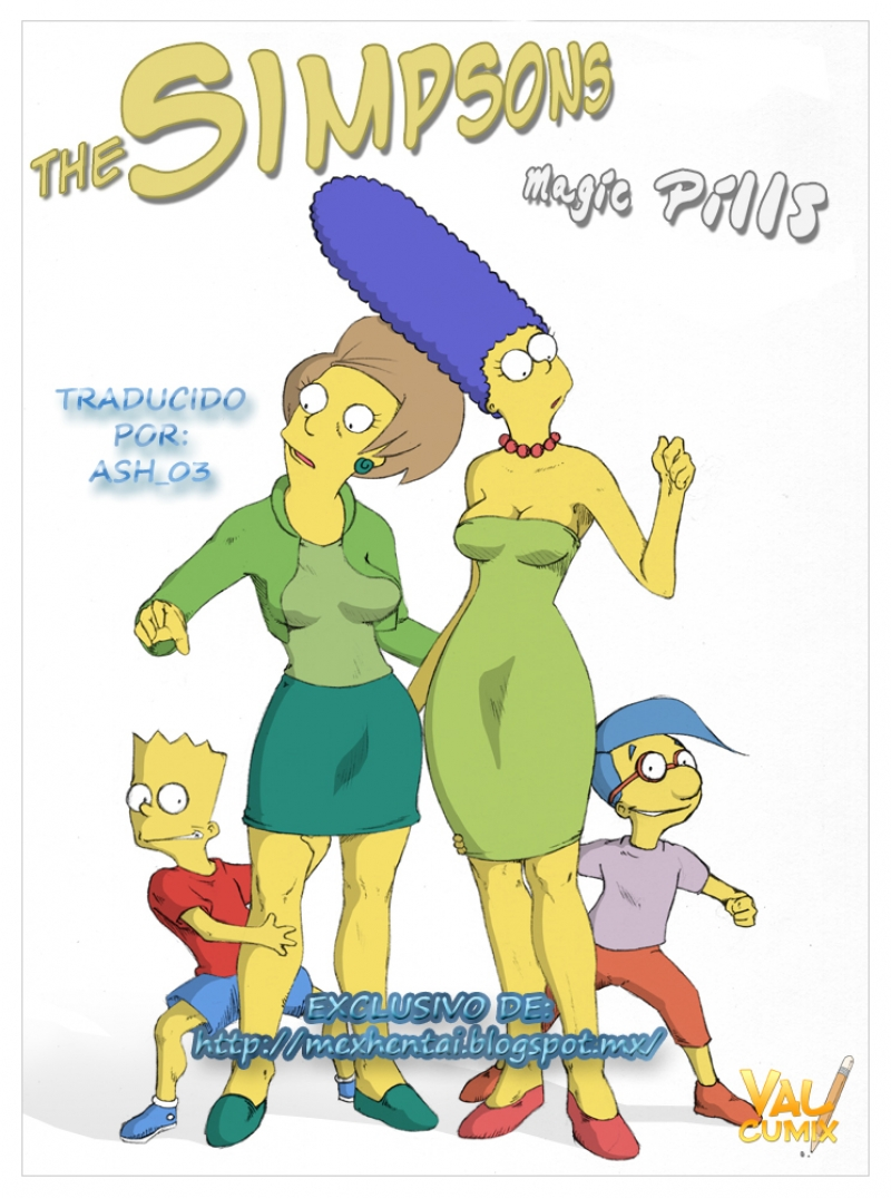 [Valcryst] Pildoras Magicas (The Simpsons) [Spanish]: Now Ms. Krabappel has no chances against Bart's cock size!